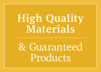 high quality materials sign