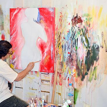 Artist Nikos Painting